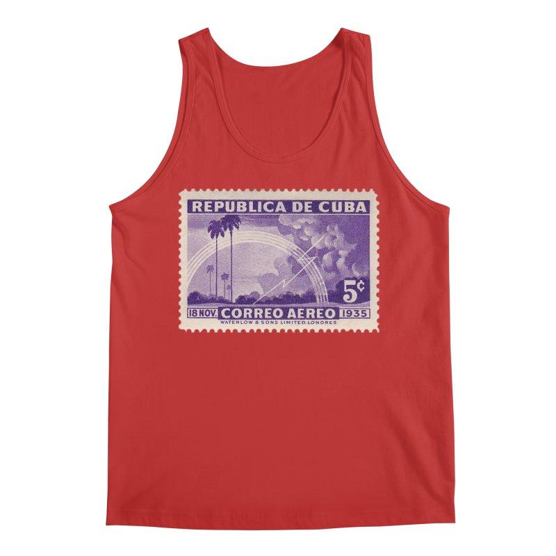 Cuba Vintage Stamp Art 1935 Men's Tank by The Cuba Travel Store Artist Shop