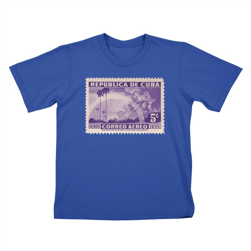 Cuba Vintage Stamp Art 1935 Kids T-Shirt by The Cuba Travel Store Artist Shop