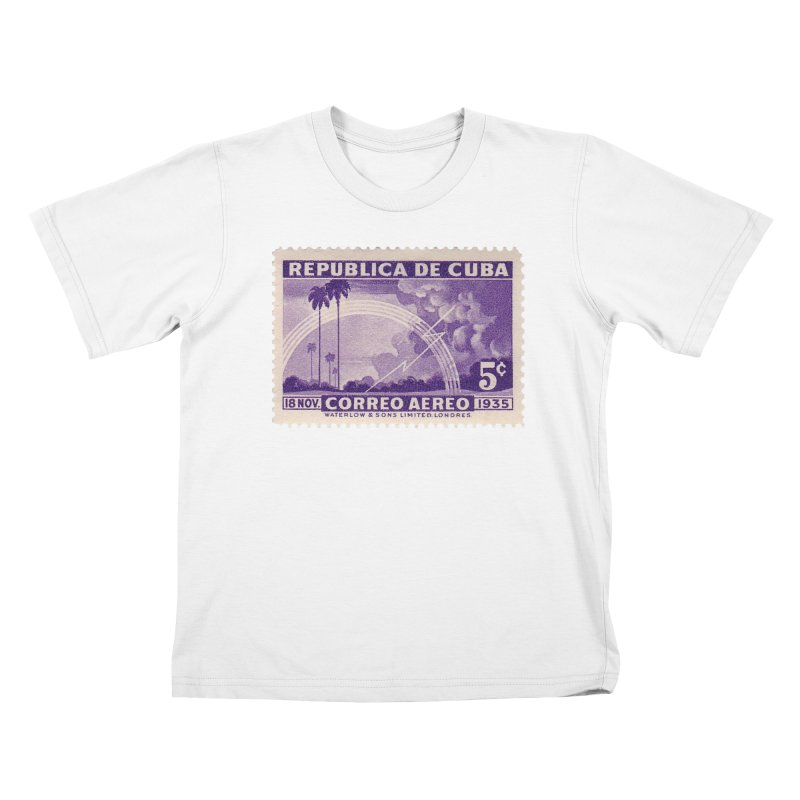Cuba Vintage Stamp Art 1935 Kids T-Shirt by The Cuba Travel Store Artist Shop