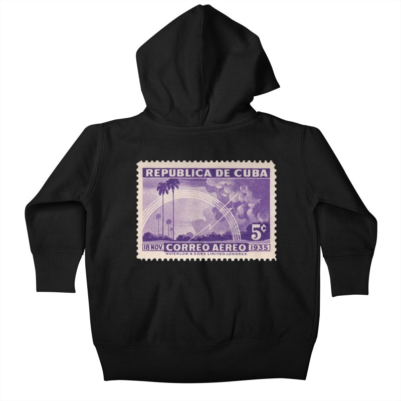 Cuba Vintage Stamp Art 1935 Kids Baby Zip-Up Hoody by The Cuba Travel Store Artist Shop