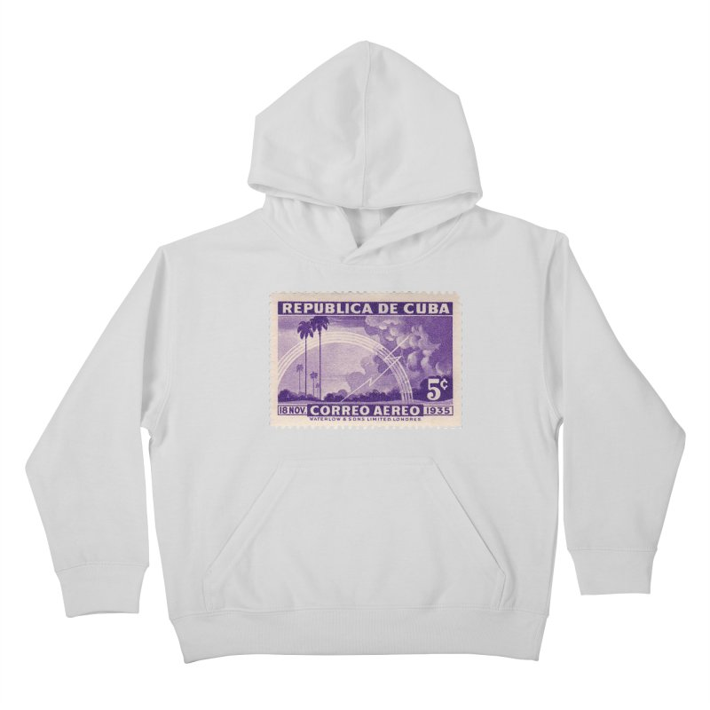 Cuba Vintage Stamp Art 1935 Kids Pullover Hoody by The Cuba Travel Store Artist Shop