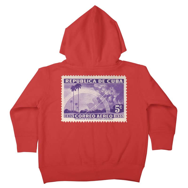 Cuba Vintage Stamp Art 1935 Kids Toddler Zip-Up Hoody by The Cuba Travel Store Artist Shop