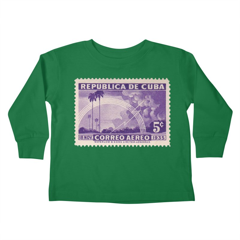 Cuba Vintage Stamp Art 1935 Kids Toddler Longsleeve T-Shirt by The Cuba Travel Store Artist Shop
