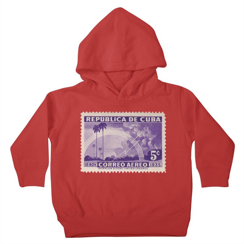Cuba Vintage Stamp Art 1935 Kids Toddler Pullover Hoody by The Cuba Travel Store Artist Shop