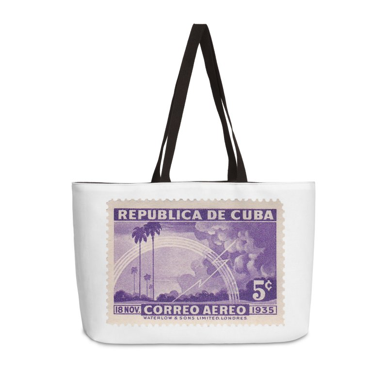 Cuba Vintage Stamp Art 1935 Accessories Weekender Bag Bag by The Cuba Travel Store Artist Shop
