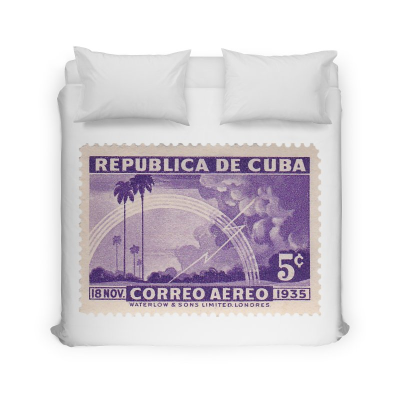 Cuba Vintage Stamp Art 1935 Home Duvet by The Cuba Travel Store Artist Shop
