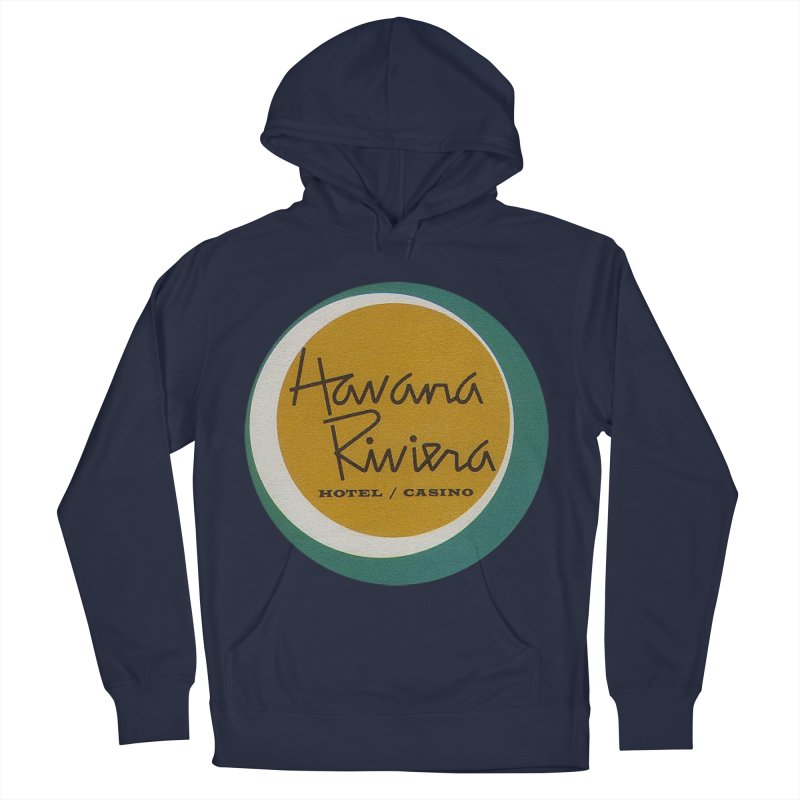 Havana Riviera Hotel 1950s Logo Men's French Terry Pullover Hoody by The Cuba Travel Store Artist Shop