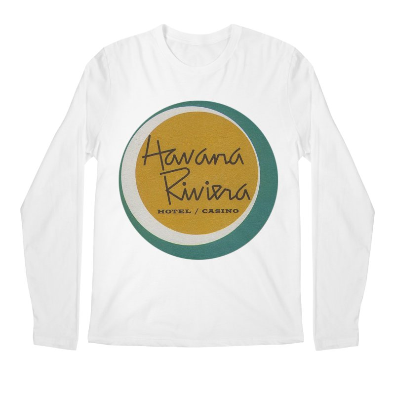 Havana Riviera Hotel 1950s Logo Men's Longsleeve T-Shirt by The Cuba Travel Store Artist Shop