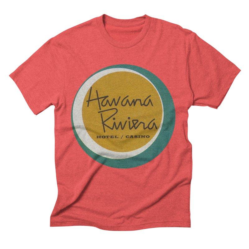 Havana Riviera Hotel 1950s Logo Men's Triblend T-Shirt by The Cuba Travel Store Artist Shop