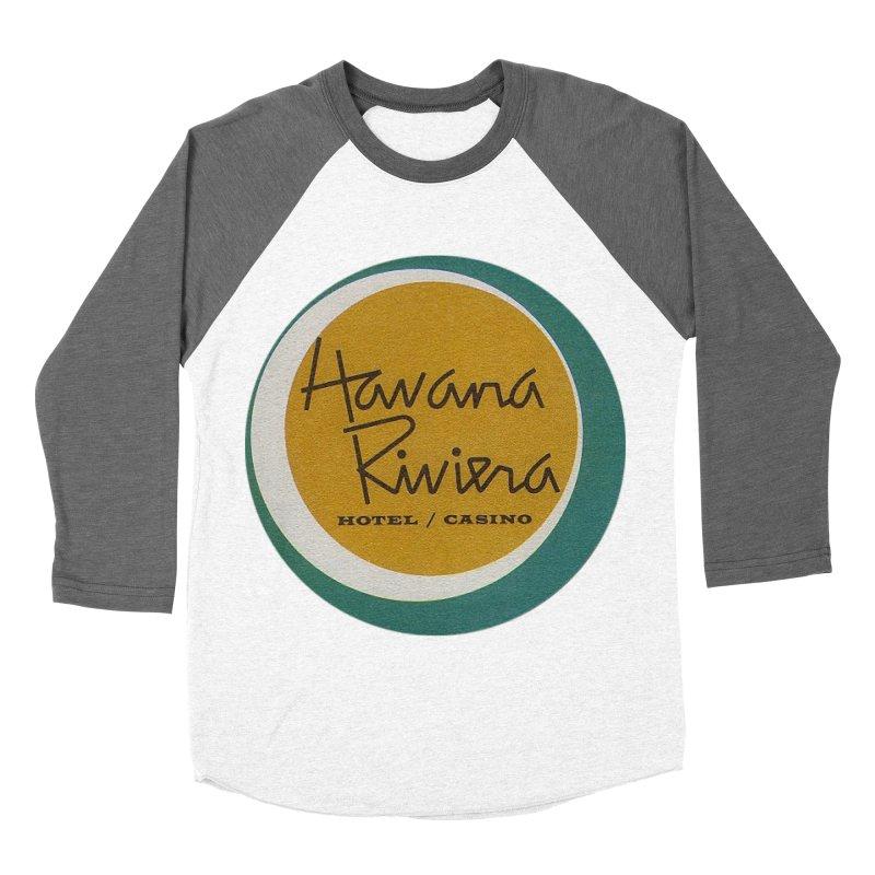 Havana Riviera Hotel 1950s Logo Women's Baseball Triblend Longsleeve T-Shirt by The Cuba Travel Store Artist Shop