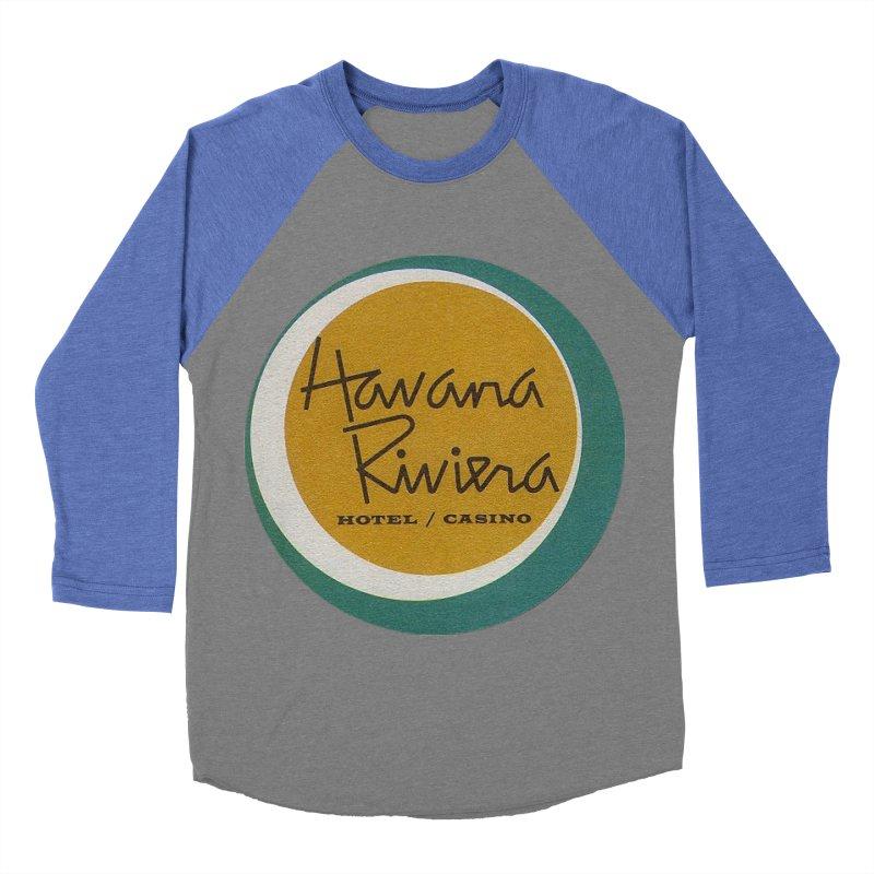 Havana Riviera Hotel 1950s Logo Men's Baseball Triblend Longsleeve T-Shirt by The Cuba Travel Store Artist Shop