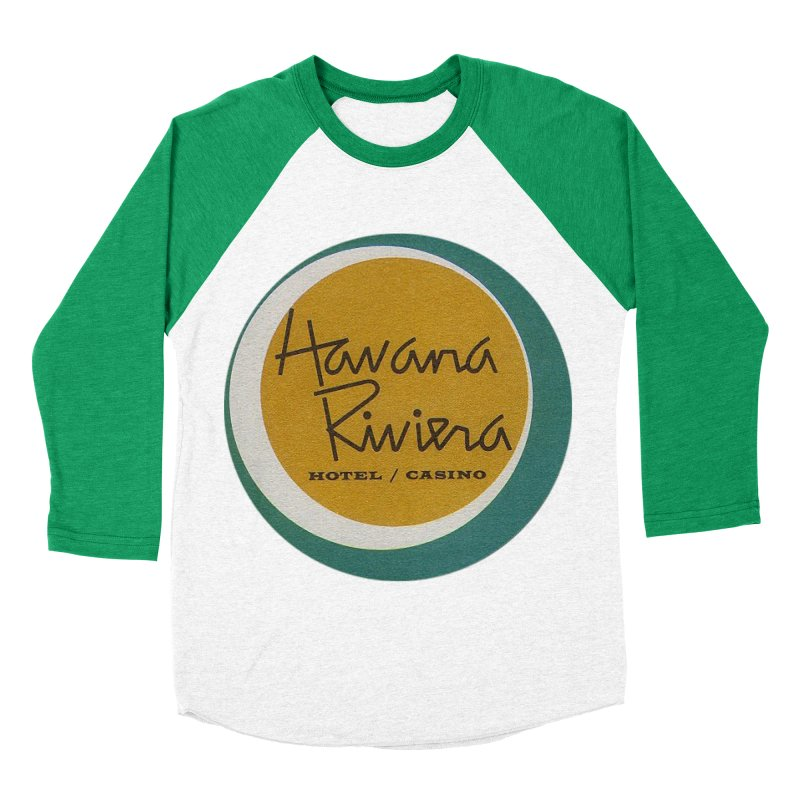 Havana Riviera Hotel 1950s Logo Men's Baseball Triblend Longsleeve T-Shirt by The Cuba Travel Store Artist Shop