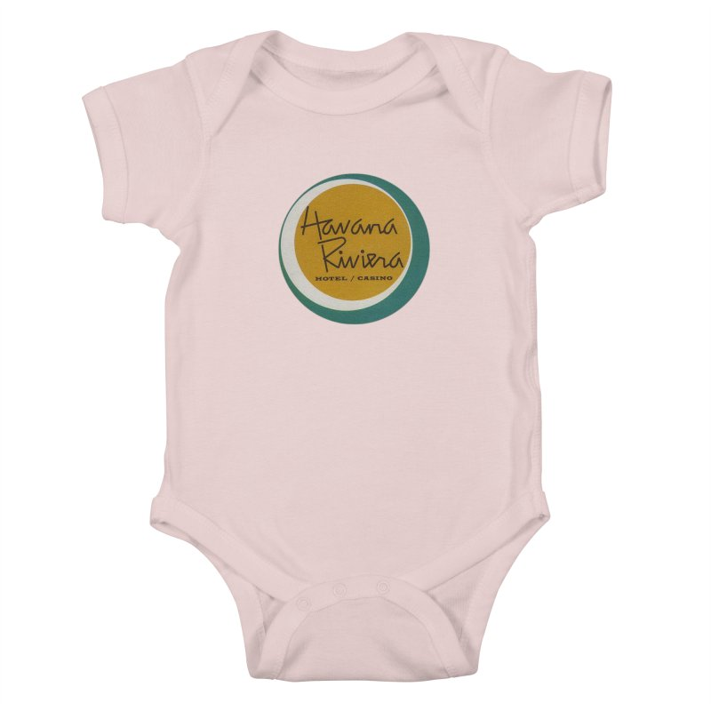 Havana Riviera Hotel 1950s Logo Kids Baby Bodysuit by The Cuba Travel Store Artist Shop