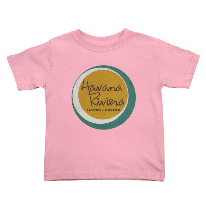 Havana Riviera Hotel 1950s Logo Kids Toddler T-Shirt by The Cuba Travel Store Artist Shop