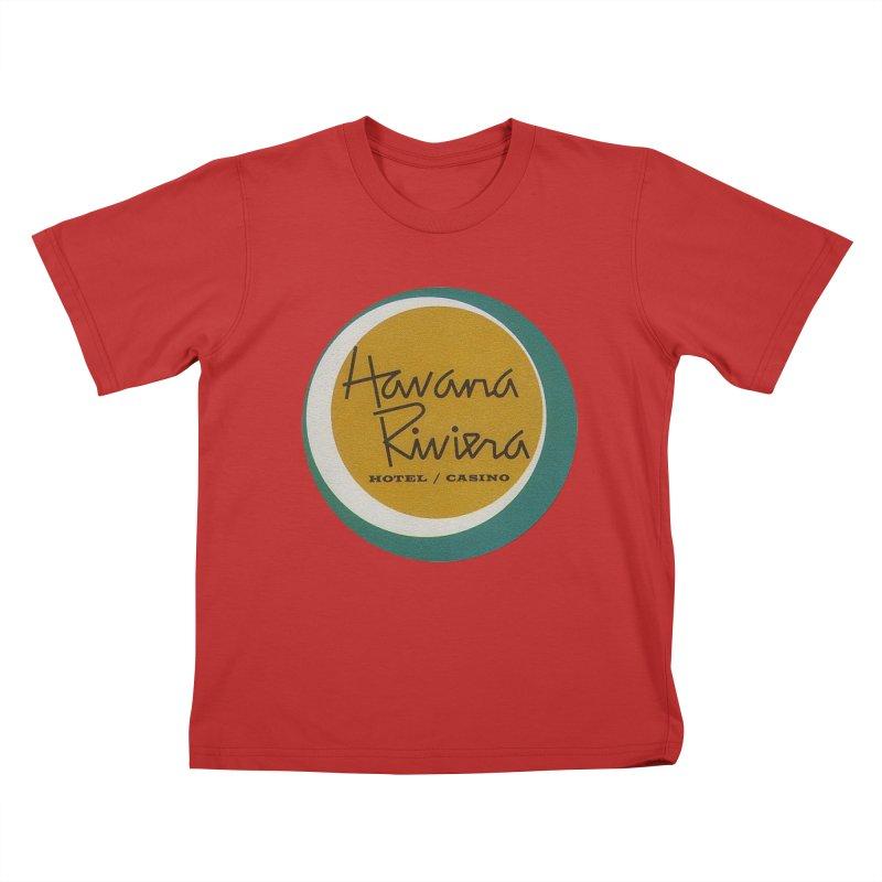 Havana Riviera Hotel 1950s Logo Kids T-Shirt by The Cuba Travel Store Artist Shop