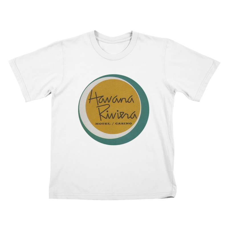 Havana Riviera Hotel 1950s Logo Kids T-Shirt by The Cuba Travel Store Artist Shop