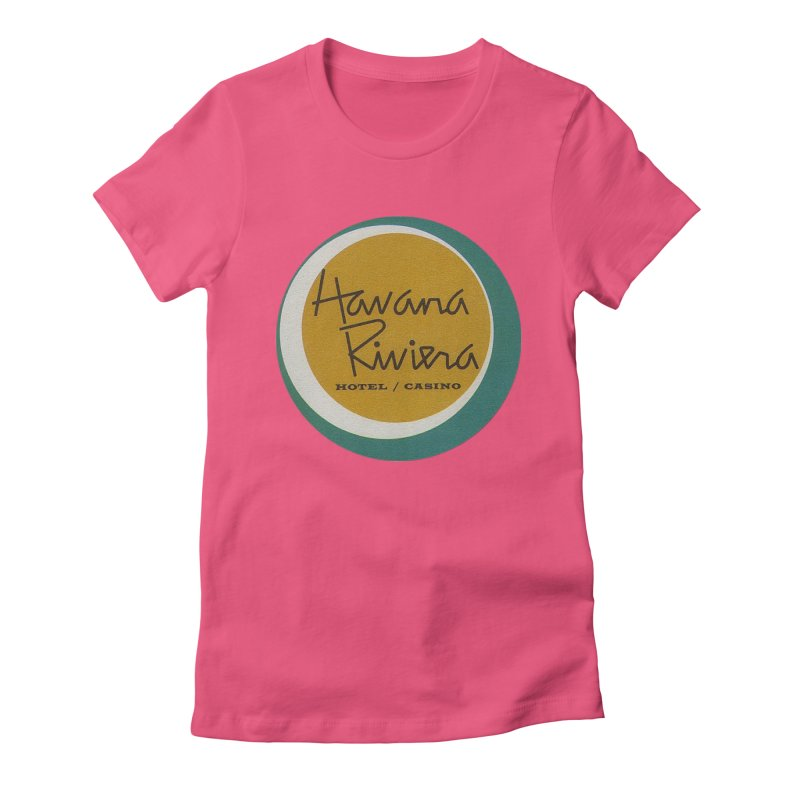 Havana Riviera Hotel 1950s Logo Women's Fitted T-Shirt by The Cuba Travel Store Artist Shop
