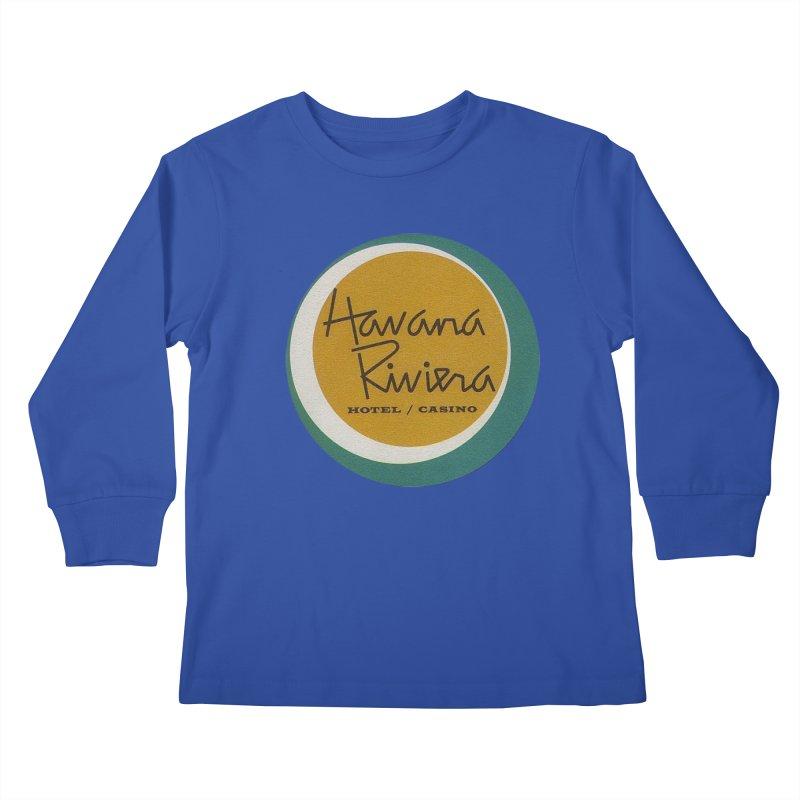 Havana Riviera Hotel 1950s Logo Kids Longsleeve T-Shirt by The Cuba Travel Store Artist Shop