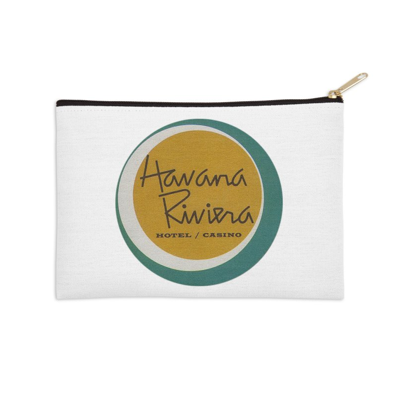 Havana Riviera Hotel 1950s Logo Accessories Zip Pouch by The Cuba Travel Store Artist Shop