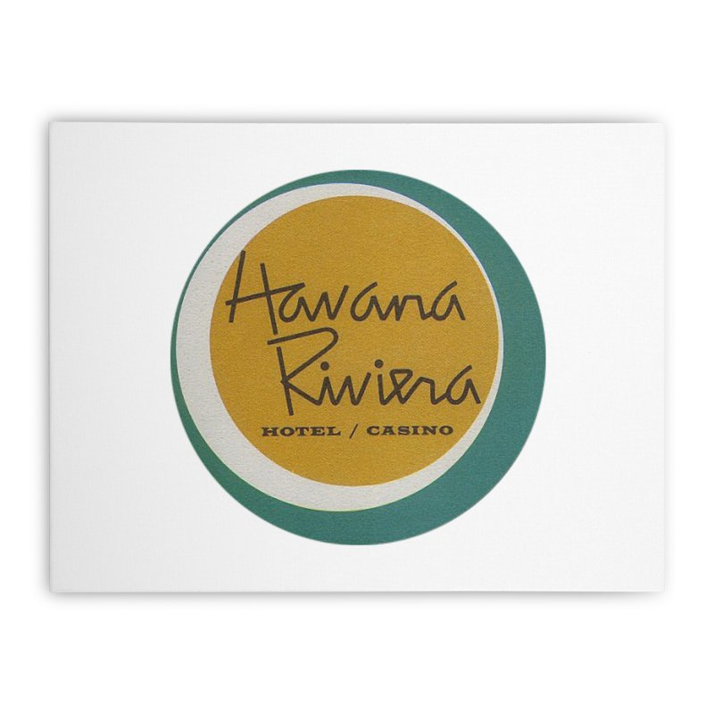 Havana Riviera Hotel 1950s Logo Home Stretched Canvas by The Cuba Travel Store Artist Shop