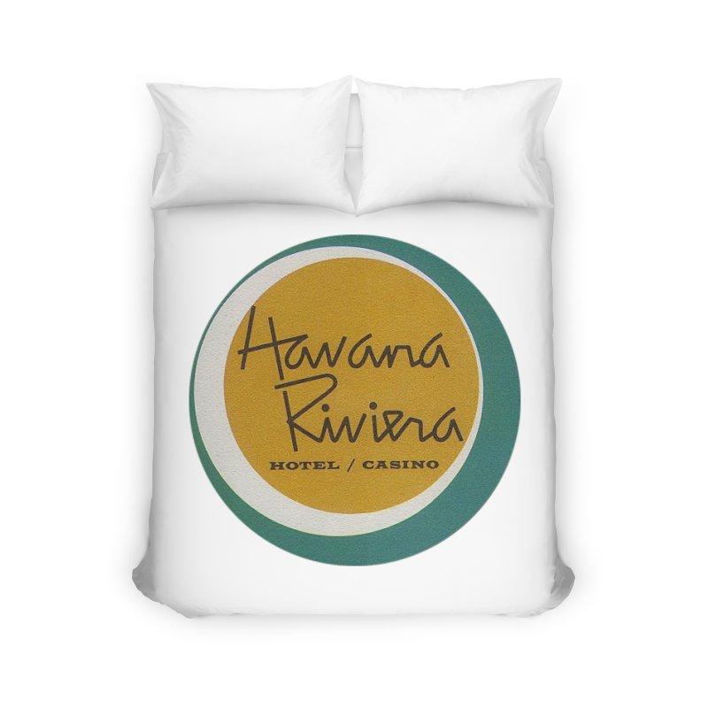 Havana Riviera Hotel 1950s Logo Home Duvet by The Cuba Travel Store Artist Shop