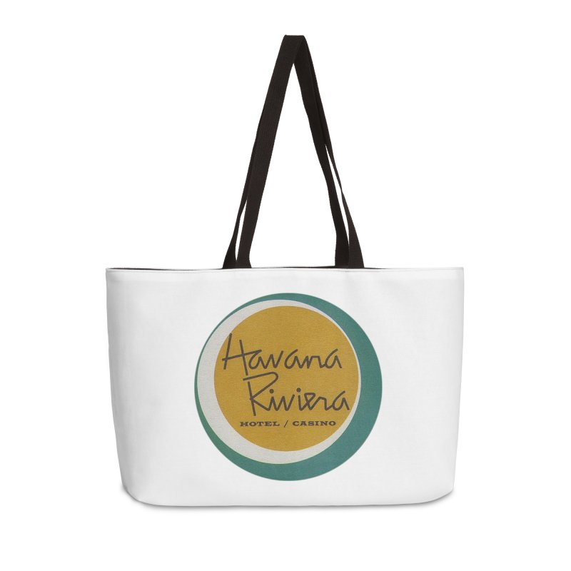 Havana Riviera Hotel 1950s Logo Accessories Weekender Bag Bag by The Cuba Travel Store Artist Shop