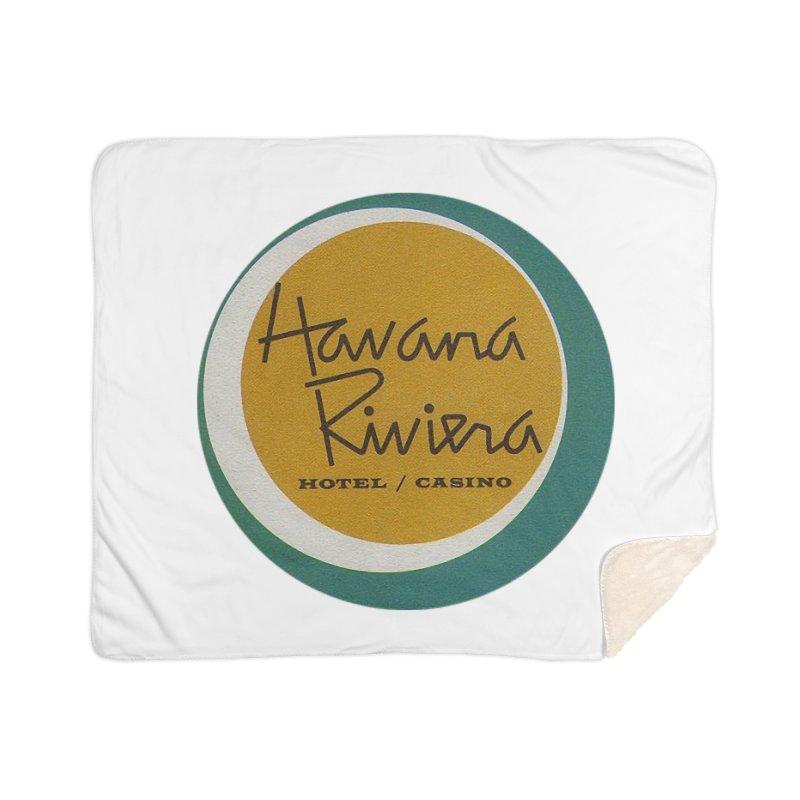 Havana Riviera Hotel 1950s Logo Home Blanket by The Cuba Travel Store Artist Shop