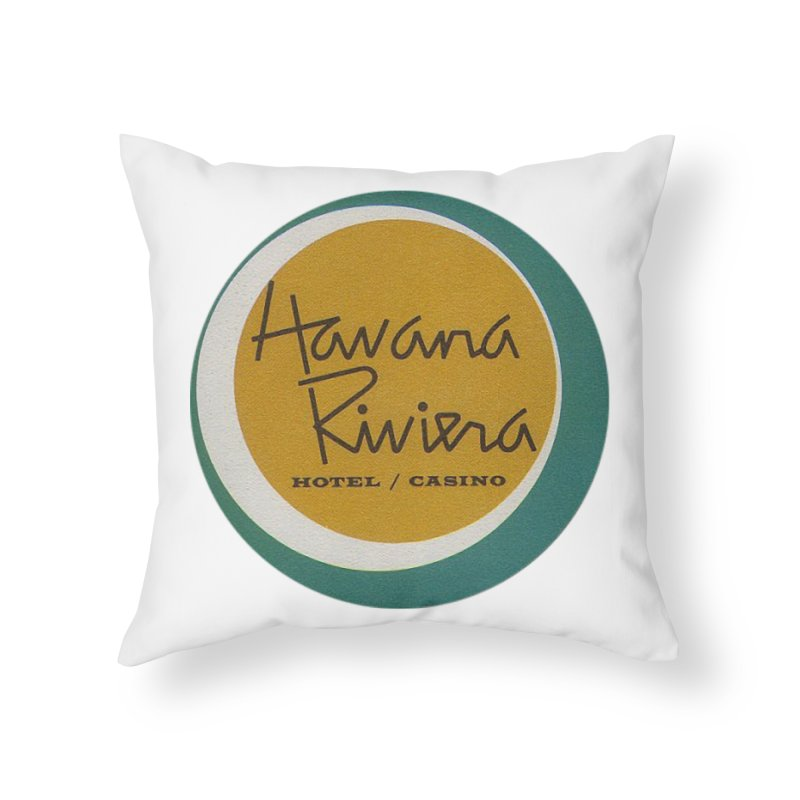 Havana Riviera Hotel 1950s Logo Home Throw Pillow by The Cuba Travel Store Artist Shop
