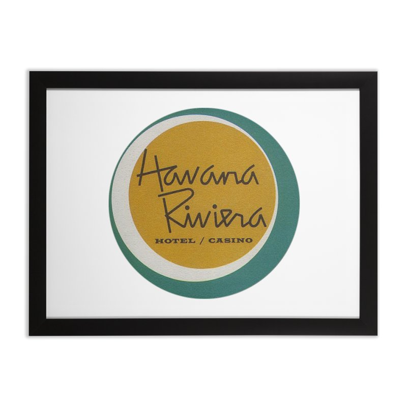 Havana Riviera Hotel 1950s Logo Home Framed Fine Art Print by The Cuba Travel Store Artist Shop