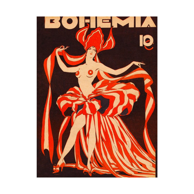 Cuba Bohemia Vintage Magazine Cover 1929 Women's Longsleeve T-Shirt by The Cuba Travel Store Artist Shop