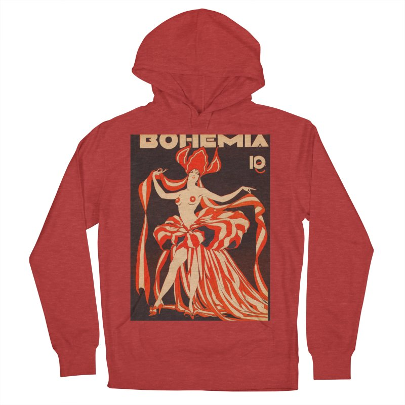 Cuba Bohemia Vintage Magazine Cover 1929 Men's French Terry Pullover Hoody by The Cuba Travel Store Artist Shop