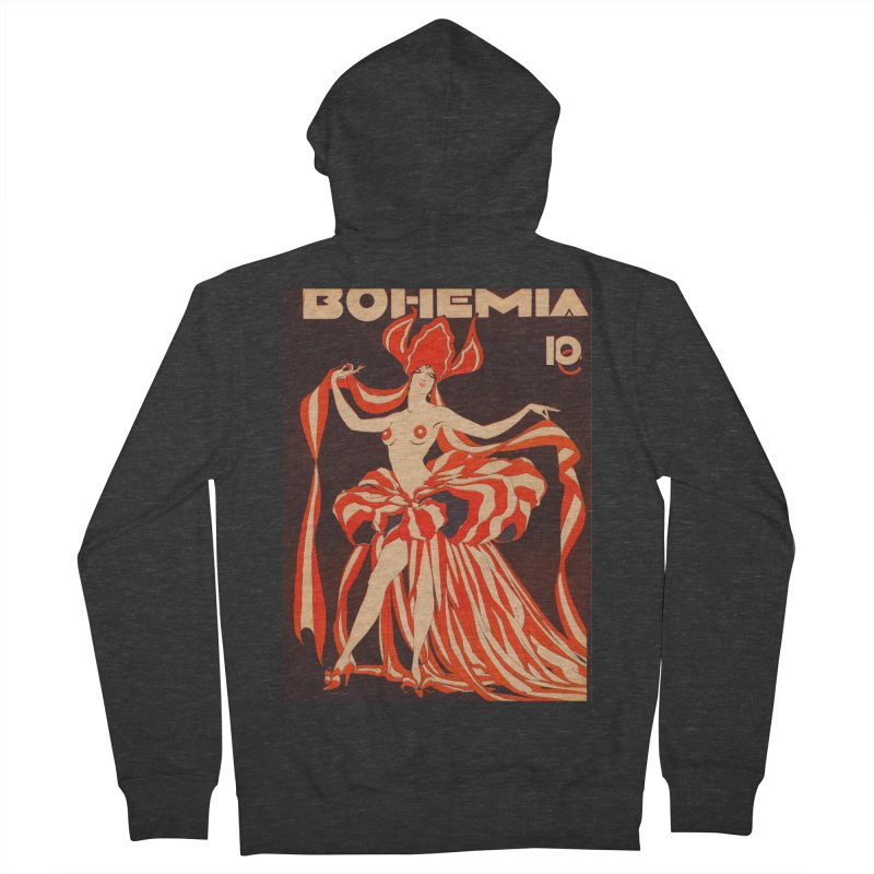 Cuba Bohemia Vintage Magazine Cover 1929 Women's Zip-Up Hoody by The Cuba Travel Store Artist Shop