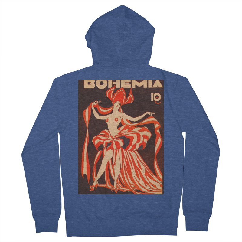 Cuba Bohemia Vintage Magazine Cover 1929 Women's French Terry Zip-Up Hoody by The Cuba Travel Store Artist Shop