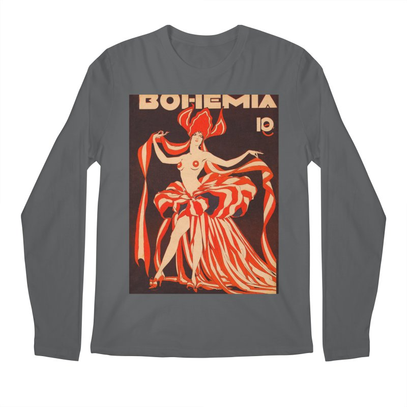 Cuba Bohemia Vintage Magazine Cover 1929 Men's Regular Longsleeve T-Shirt by The Cuba Travel Store Artist Shop