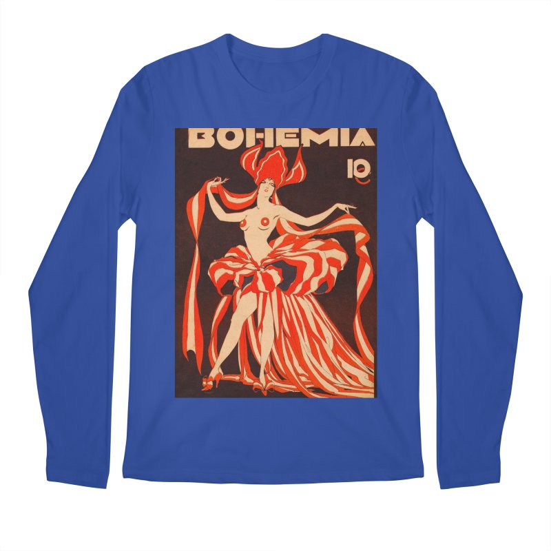 Cuba Bohemia Vintage Magazine Cover 1929 Men's Longsleeve T-Shirt by The Cuba Travel Store Artist Shop