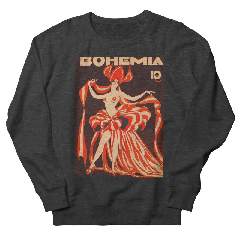 Cuba Bohemia Vintage Magazine Cover 1929 Women's French Terry Sweatshirt by The Cuba Travel Store Artist Shop