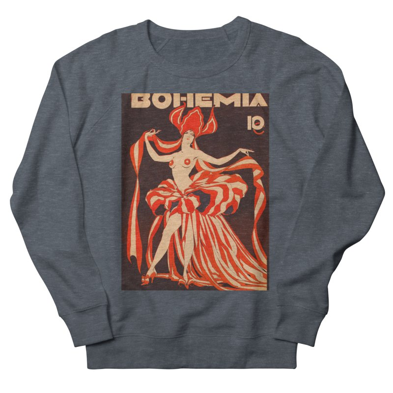 Cuba Bohemia Vintage Magazine Cover 1929 Women's French Terry Sweatshirt by The Cuba Travel Store Artist Shop