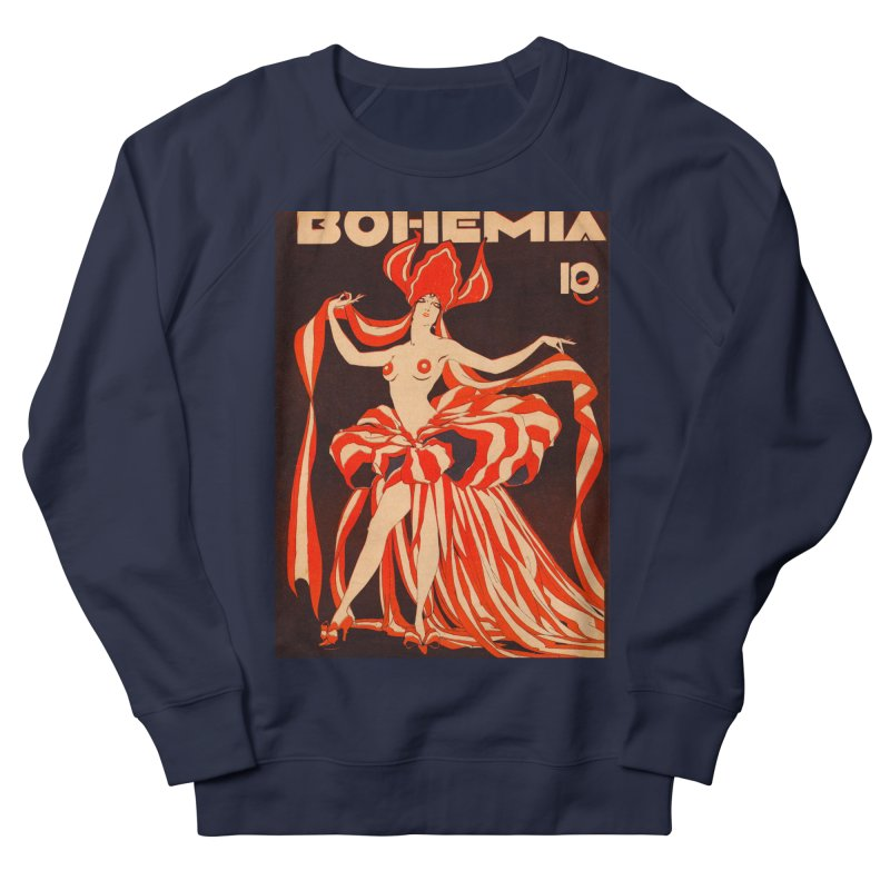 Cuba Bohemia Vintage Magazine Cover 1929 Men's French Terry Sweatshirt by The Cuba Travel Store Artist Shop