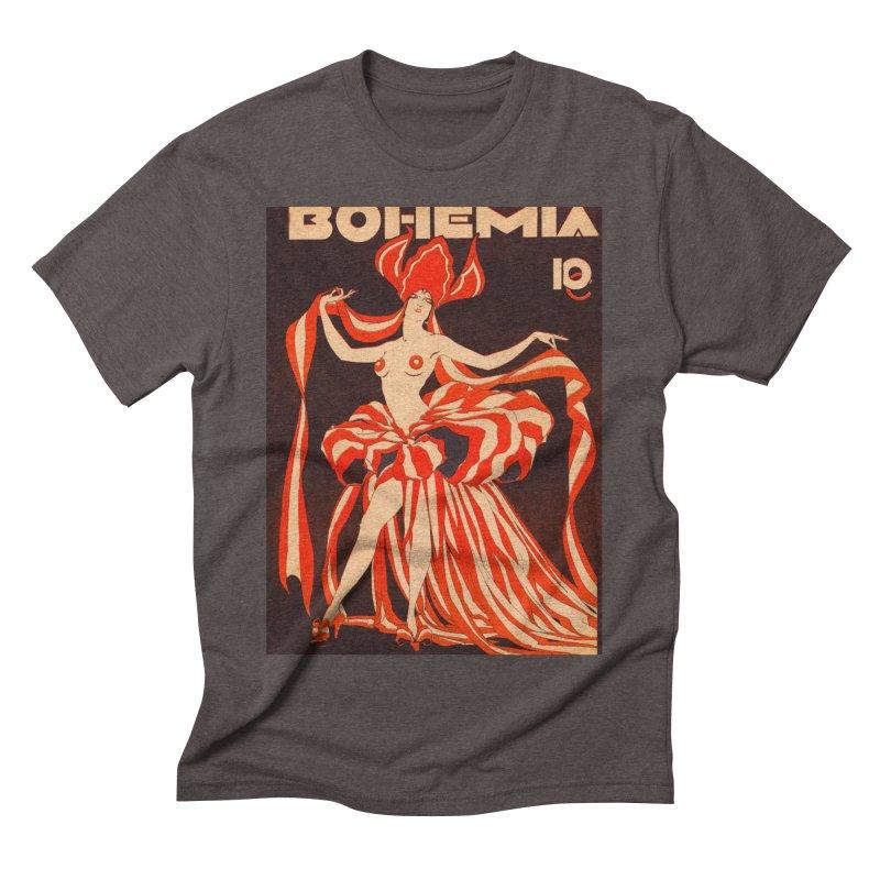 Cuba Bohemia Vintage Magazine Cover 1929 Men's Triblend T-Shirt by The Cuba Travel Store Artist Shop