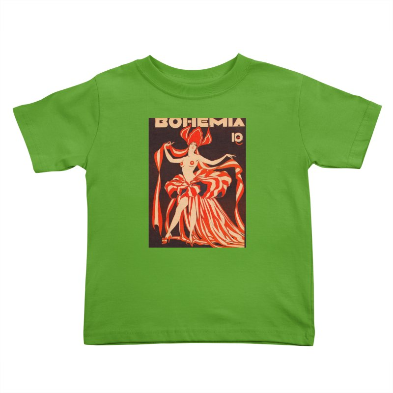 Cuba Bohemia Vintage Magazine Cover 1929 Kids Toddler T-Shirt by The Cuba Travel Store Artist Shop