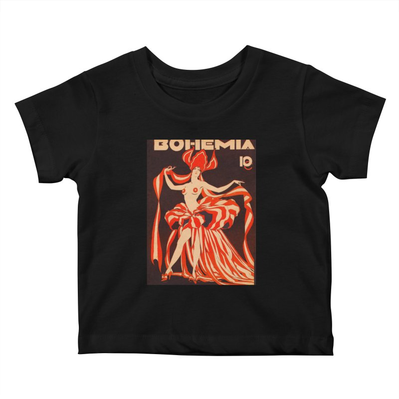 Cuba Bohemia Vintage Magazine Cover 1929 Kids Baby T-Shirt by The Cuba Travel Store Artist Shop
