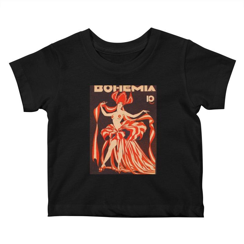 Cuba Bohemia Vintage Magazine Cover 1929 Kids Baby T-Shirt by The Cuba Travel Store Artist Shop