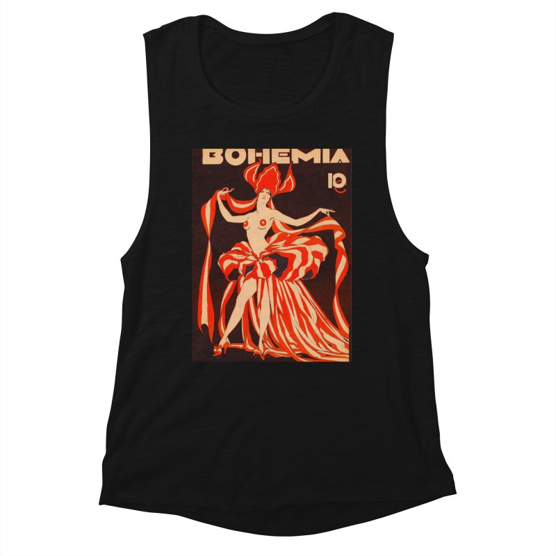 Cuba Bohemia Vintage Magazine Cover 1929 Women's Tank by The Cuba Travel Store Artist Shop