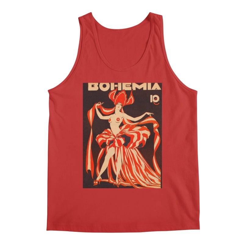 Cuba Bohemia Vintage Magazine Cover 1929 Men's Tank by The Cuba Travel Store Artist Shop