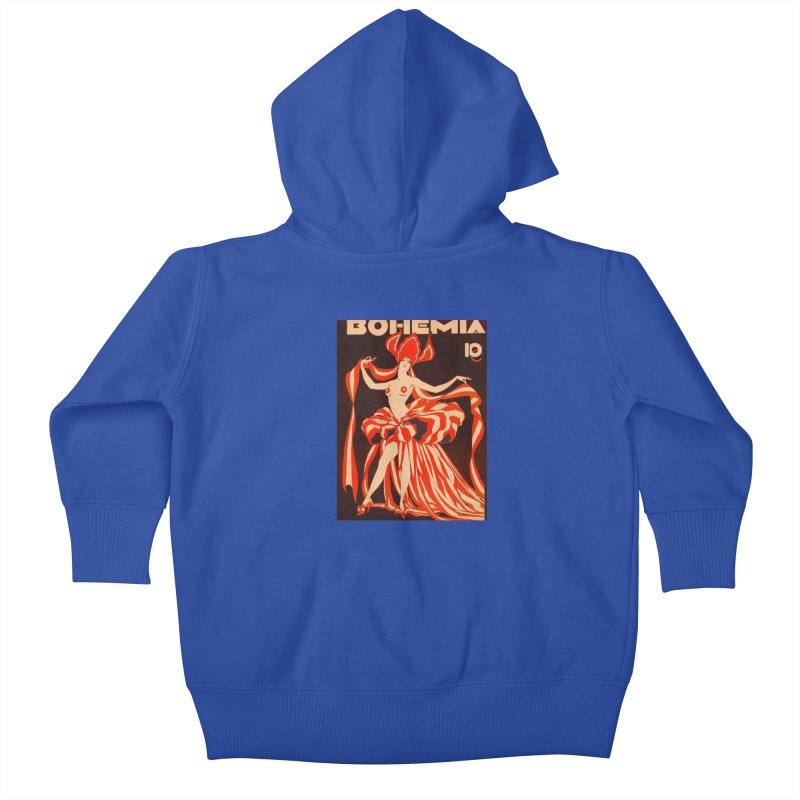Cuba Bohemia Vintage Magazine Cover 1929 Kids Baby Zip-Up Hoody by The Cuba Travel Store Artist Shop