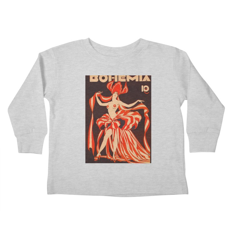 Cuba Bohemia Vintage Magazine Cover 1929 Kids Toddler Longsleeve T-Shirt by The Cuba Travel Store Artist Shop