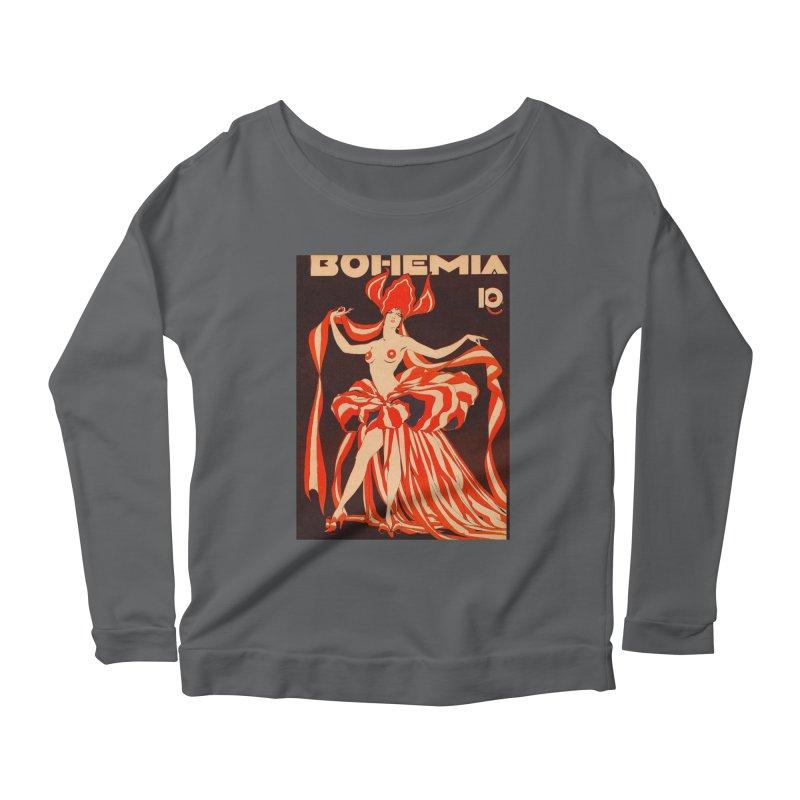 Cuba Bohemia Vintage Magazine Cover 1929 Women's Scoop Neck Longsleeve T-Shirt by The Cuba Travel Store Artist Shop