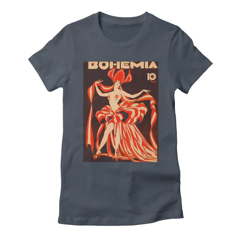 Cuba Bohemia Vintage Magazine Cover 1929 Women's T-Shirt by The Cuba Travel Store Artist Shop
