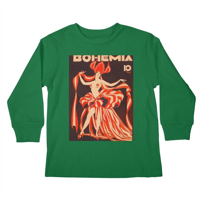 Cuba Bohemia Vintage Magazine Cover 1929 Kids Longsleeve T-Shirt by The Cuba Travel Store Artist Shop