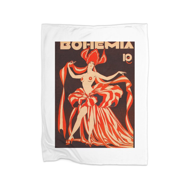 Cuba Bohemia Vintage Magazine Cover 1929 Home Blanket by The Cuba Travel Store Artist Shop